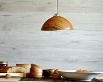 Lamp shade, Wood lamp shade, Home and living, Woodturning, Pendant lamp, Lighting, Lampshade, Pendant Light, Pendant light shade, wood lamp