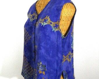 Vintage Bohemian Sleeveless Top // Size M