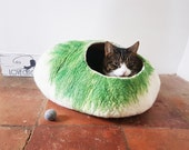 Luxury cat beds Cat Cave Cat House Felted Wool with FREE Cats Ball