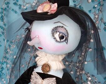"OOAK art doll ""Sharliz"""