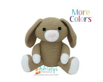 Crochet Bunny Rabbit- Stuffed Bunny Rabbit-Bunny Plush- Easter Gifts- Easter Bunny- Handmade Bunny -Crochet Toy- Easter Plush- Made to Order