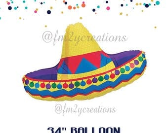 Sombrero balloon | Cinco de Mayo Party | Fiesta Sombrero Balloon | Cinco de Mayo Party Decorations | Taco Party Mexican Fiesta Party Decor
