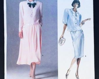 Vintage VOGUE American Designer Albert Nipon 1842 Top Skirt UNCUT Sz 12 Pattern