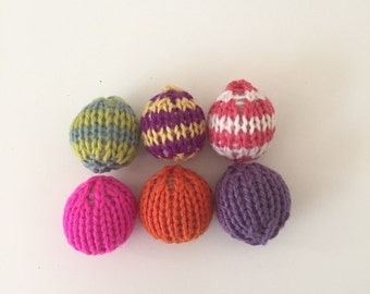 Assorted Catnip Ball Cat Toys (Small)-100% Wool (6/Package)