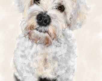 Custom Dog Portrait, custom portrait, dog portrait, pet portrait, dog lover, dog art, gift, wall art, dog, artwork, pet memorial, pet