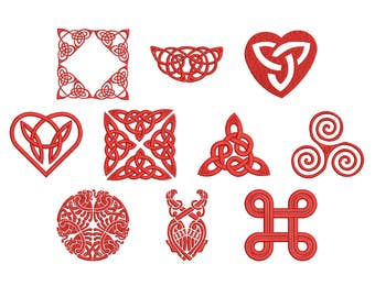 Machine Embroidery Design Instant Download - Celtic Knotwork Collection 3