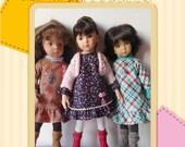 Robe et sous-pull pour les poupées Little Darling, Minouche, Mini-Maru