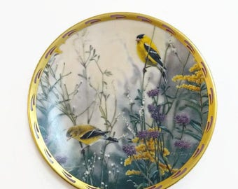 Vintage Lenox Golden Splendor Collectors Plate Bird Natures Collage Plate Collection 1992
