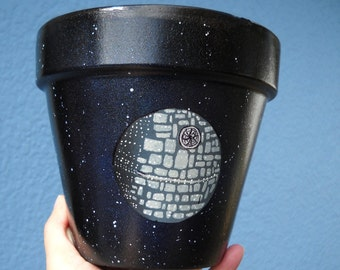 Star Wars Death Star Inspired Pot/Planter