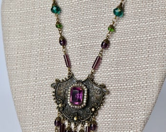 RESERVED: Layaway payment 4-1930's Czech Glass Necklace