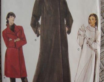 Uncut Vogue Coat Sewing Pattern no 9953 Multi Size XS S M 1998