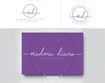 clean siganture style logo pen initials businesscards  simple modern feminine branding- logo Identity artist makeup wedding photographer