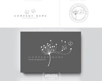 sketchy dandelion brush rose initials businesscards  simple modern feminine branding- logo Identity artist makeup wedding photographer