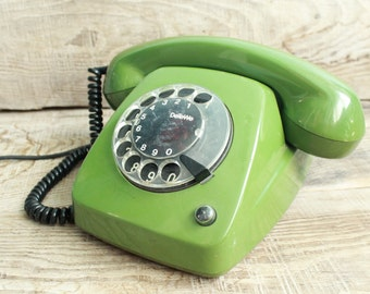 Vintage rotary phone Siemens / retro phone  / circle dial rotary telephone / vintage landline phone / Old Dial Desk Phone