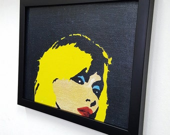 Blondie -  Framed Wall Art Giclee Canvas  Paint,Painting, Poster,Print- Great Rock'n'Roll Home Decor
