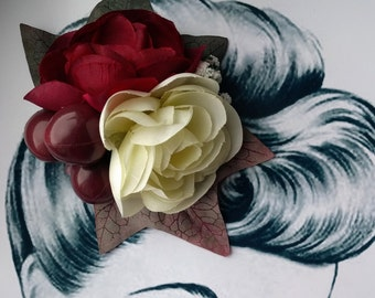 Pretty Peony Pin Up Hair Flower Vintage Autumn