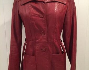 Vintage Nordstrom Women's Leather Jacket Size 6