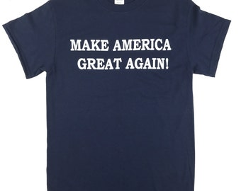 Make America Great Again Donald Trump T Shirt - NAVY BLUE