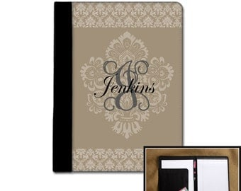 College Student Back To School Monogram Padfolio Gifts for Coworkers Business Padfolio Custom Personalized Portfolio Monogram Notepad Case