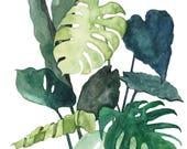 Postcard Botanical #02, Illustrated Postcard, Watercolor