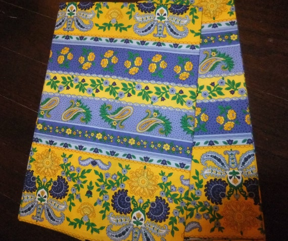 Blue And Yellow French Country Kitchen Towels Provincial