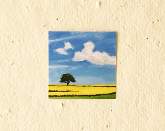 Yellow Field - Tiny Art Print