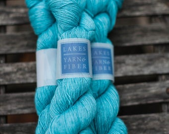Silk Single Fingering Hand Dyed Superwash Merino and Silk Yarn