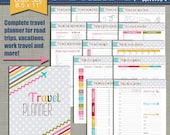 """New Travel Planner {Printable} - Size Large 8.5"""" x 11"""" PDF"""