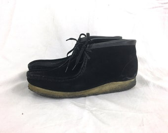 9.5 - Black Suede Clark's Wallabee