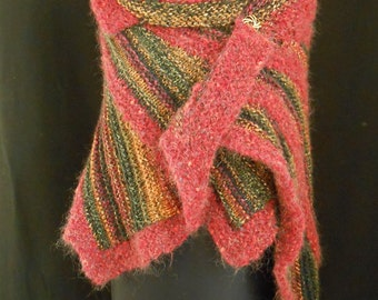 Hand Knitted Festival Shawl. Wingspan Design