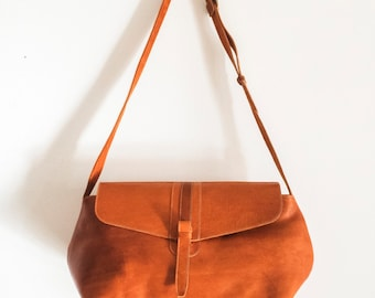 Big SATCHEL Leather BAG // Leather Handbag Large Capacity // Coach leather bag // Unisex Tote bags // Leather bags ORGANIC
