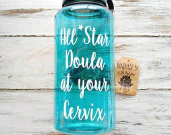 All star doula at your cervix - 34 OZ. Jug, gift for doula, midwifery, home birth, doula, water birth, midwife gift