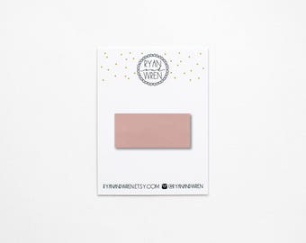 Blush leather snap clip