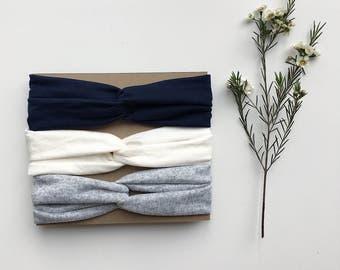 Turbans couleurs assorties - Neutral turban headband