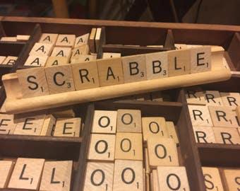 VINTAGE ~ Vintage Scrabble Tiles | Toys & Games | Recycle | Games | Puzzles | SCRABBLE | LOT | You Pick Quantity | Tile Boards Ledges