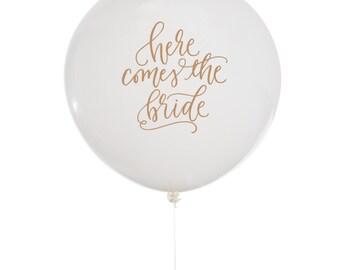 Here Comes the Bride Sign, Here Comes the Bride Banner, Ring Bearer Sign, Ring Bearer Banner, Wedding Ceremony Backdrop, Wedding Balloons