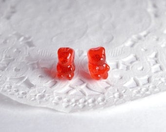 Chips ears gummy bear, jujubes bears, miniature candies, sweet earrings, greedy jewel, jewel sweet Teddy Haribo