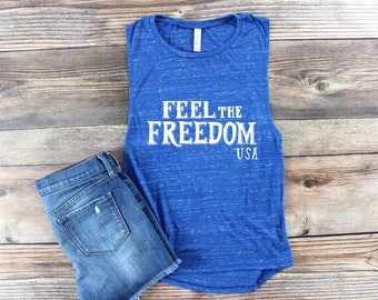 4th of July Tank Top/ USA Shirt/ USA Tank top/ American Flag/ Muscle Tank/ Muscle Tee/ Summer Tank Top/ America Shirt/ Merica Tank Top