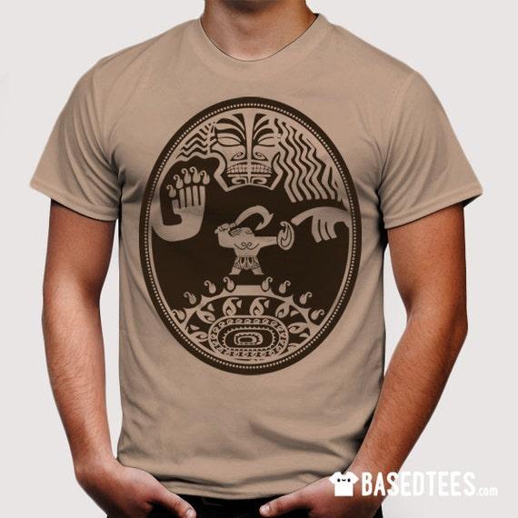 Mini demigod Front Tattoo - Camel T-Shirt