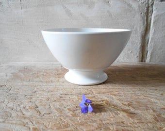 French Antique Bowl Caf Au Lait Bol Whiteware Kitchen Decor Bowl French