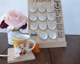 Personalized Coffee Pods Holder, Coffee Capsules Rack, Coffee Pod storage, Coffee Lovers Gift, Custom Coffee Present