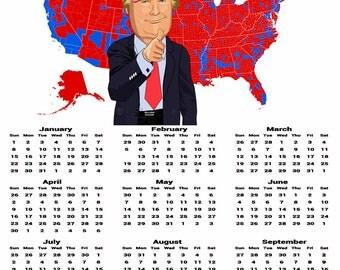 2017 President Trump Calendar Poster (CAL-PREZ-4)