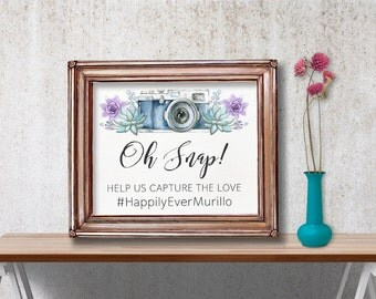 Instagram Sign Wedding, Hashtag Sign, Succulent Instagram Sign, Printable Hashtag Instagram Sign, Boho Wedding Instagram Sign Printable