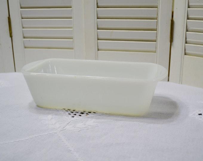 Vintage Glasbake Loaf Pan Milk Glass Retro Kitchen Glass Bakeware J522 PanchosPorch