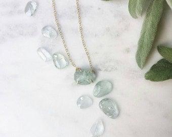 Rose Cut Aquamarine Necklace