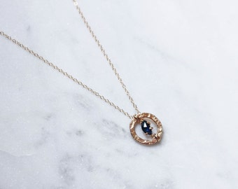 Gold + Rose Cut Sapphire Necklace