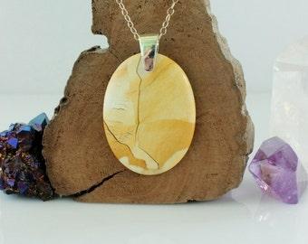 Mook Jasper Pendant, Brecciated Mookaite jewelry, Jasper pendant, Semiprecious gemstone jewelry, Bohemian jewelry, Womens jewelry, For her