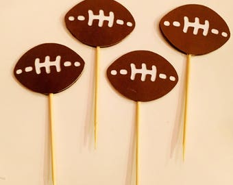 24 Football Cupcake Topper/ Food Pick / Football Party