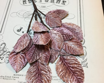 Beautiful Millinery Velvet Leaves