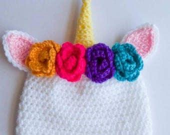 Unicorn Baby Hat - unicorn photo prop - unicorn baby gift - easter girl outfit - unicorn baby gift - unicorn baby shower - unicorn birthday